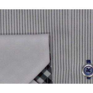 Deep Ocean 高級ワイシャツ すっきりシルエット 形態安定 39-82|million-arrow|03