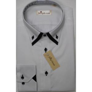 Deep Ocean 高級ワイシャツ すっきりシルエット 形態安定 40-84|million-arrow