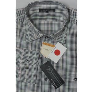日本製! FIDATO   高級綿 ピマコットン使用  長袖シャツ   |million-arrow