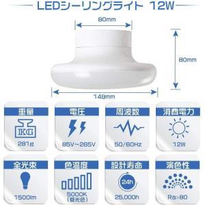 LEDシーリングライト 6畳 12W 1500lm LED電球 100w形相当 シーリングライト 小型 照明器具 昼白色 LED シーリング|million-got