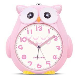 Moonya 目覚まし時計 子供 かわいいフクロウ めざまし 切替式アラーム 大音量アラーム 早起きでき 静かな秒針 スヌーズ 光めざまし|million-got