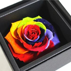 アモローサ プリザーブドフラワー セブンラック バラ直径 約8.5cm 箱サイズ 約よこ10.7cm たて10.7cm 高さ7.6cm million-got