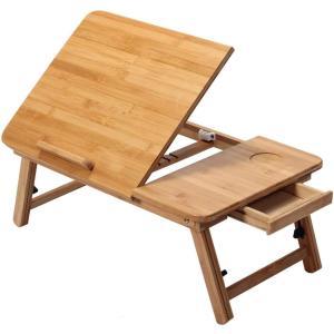 ノートパソコンデスク ベッドテーブル キャンプテーブル ピクニックテーブル 折りたたみテーブル 竹製 バンブー折りたたみテーブル ローテーブ|million-got