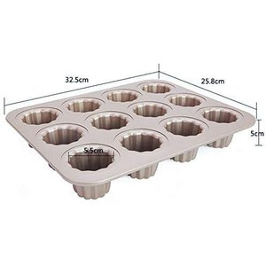 CHEFMADE カヌレ型 12個付 粘りにくいケーキ型|million-got