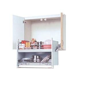 スイングダウンウォール JDS90602 標準タイプ 900mmキャビネット用 昇降式キャビネット 吊戸棚用 オークス 収納棚 キッチン棚|million-got