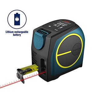 レーザー距離計 DTAPE DT10 最大測定距離40M USB充電式カラーLCDディスプレイ付き 巻尺レーザー距離計 内蔵 距離 空間任意|million-got