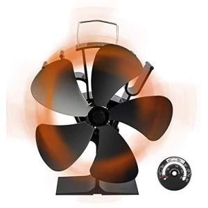 ストーブファン Snople 火力ファン 5つブレード エコファン 火力熱炉ファン ミニラウンド型 静音 省エネ ストーブファンヒーター 薪|million-got