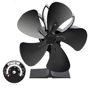 ストーブファン 薪ストーブファン2020年最新版 火力熱炉ファン 石油/木材暖炉用の5ブレード熱供給式エコストーブファン 空気循環 電源不要|million-got