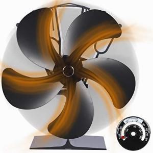 2020改良最新版ストーブファン 薪ストーブ 5ブレード エコストーブファン 50℃で回転 火力熱炉ファン 電源不要 静音 省エネ 暖炉用品|million-got