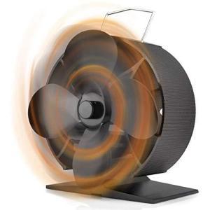 ストーブファン Tooltoo 薪ストーブ 4つブレード 使用温度40-340℃ エコファン 火力熱炉ファン ミニラウンド型 静音 省エネ|million-got