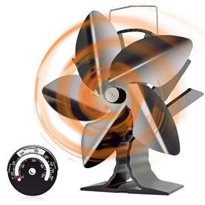 ストーブファン 火力熱炉ファン2020年最新改良版薪ストーブファン 石油/木材暖炉用の5ブレード熱供給式エコストーブファン 空気循環 省エネ|million-got