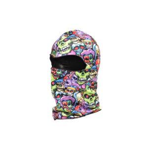 【BB03】 フェイスマスク バラクラバ フルフェイスマスク スカル柄 骸骨 カラフル|million