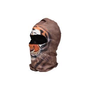 【BB04】 フェイスマスク バラクラバ フルフェイスマスク ライオン柄 濃茶色|million
