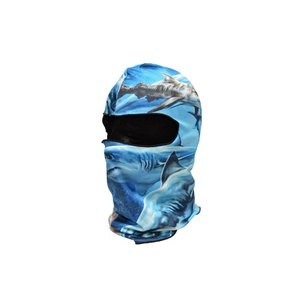 【BB05】 フェイスマスク バラクラバ フルフェイスマスク シャーク サメ柄 ブルー|million