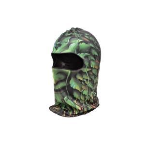 【BB08】 フェイスマスク バラクラバ フルフェイスマスク ツタ柄 葉っぱ柄|million