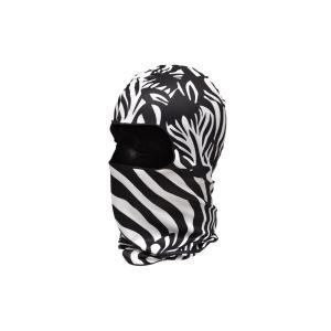 【BB14】 フェイスマスク バラクラバ フルフェイスマスク ゼブラ シマウマ柄 白黒|million