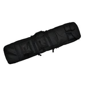 改良版 2段収納 ダブル ガンケース ライフルケース 120cm ソフトケース エアガンケース 電動ガンケース ブラック 黒 黒色|million
