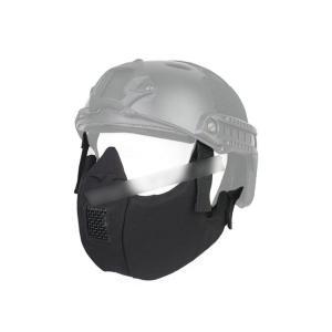 タクティカルハーフ プロテクティブマスク ハーフフェイスマスク ブラック 黒 【BD6641】|million