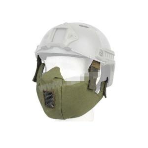 タクティカルハーフ プロテクティブマスク ハーフフェイスマスク ブラック オリーブドラブ OD 【BD6641E】|million