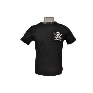 NAVY SEALs SEU クロスソードスカル コットン Tシャツ 黒 (M) million