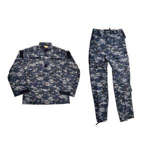 BWOLF製 迷彩服 戦闘服 ジャケット&パンツ 上下セット NWU迷彩 米海軍 US Navy ネイビー ピクセルブルー デジタルブルー|million