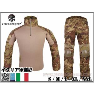 EMERSON製 CRYEタイプ G2 コンバット迷彩服 上下セット 戦闘服 イタリアンフレック イタリア陸軍迷彩|million