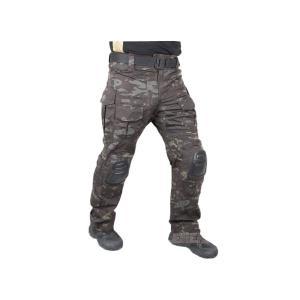 【ズボンのみ】 EMERSON製 CRYEタイプ コンバット迷彩服 戦闘服 マルチカモ ブラック迷彩|million