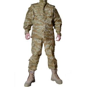 デザートタイガーストライプ 迷彩柄 リザードパターン とかげパターン 米軍現用服 迷彩服 戦闘服 上下セット|million