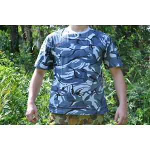 Tシャツ スカイカモ 迷彩柄 アメリカ軍 採用迷彩 ブルー系 ウッドランド million
