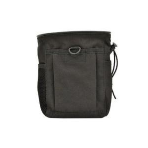角形 ダンプポーチ 収納袋 使用済み マガジンポーチ 回収袋 MOLLEシステム対応 ブラック 黒 黒色|million