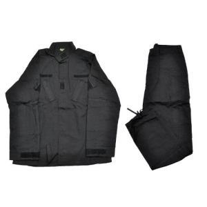 EMERSON製 (エマーソン) 迷彩服 上下セット 戦闘服 ブラック 黒 黒色|million