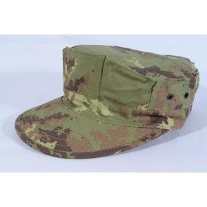 イタリア軍 イタリアンフレック ウッドランド 迷彩柄 八角帽 ミリタリーキャップ|million