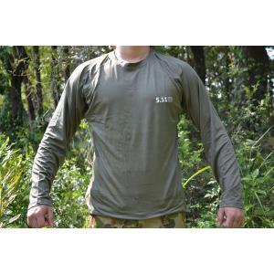 ロング Tシャツ OD オリーブドラブ 速乾素材 ロンT 脇がメッシュ仕様なので夏でも涼しい million