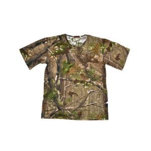 枯葉迷彩 落葉迷彩 迷彩柄 丸首 Tシャツ 茶色系 million