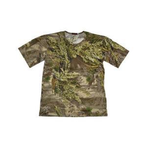 枯葉迷彩 落葉迷彩 迷彩柄 丸首 Tシャツ 緑色系 million