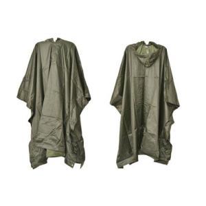 ミリタリー ナイロンポンチョ レインコート 雨具 カッパ 合羽 オリーブドラブ OD 緑|million