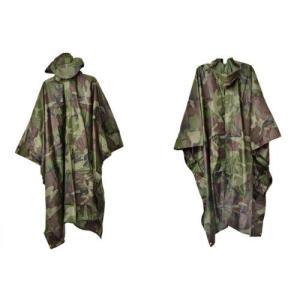 ミリタリー ナイロンポンチョ レインコート 雨具 カッパ 合羽 ウッドランド迷彩柄 アメリカ陸軍 M81迷彩|million