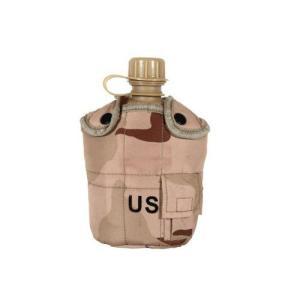 3カラーデザート 迷彩柄 カバー付き ミリタリーキャンティーン 水筒 WW2 第二次世界大戦タイプ|million