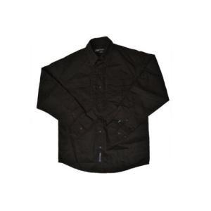 タクティカルシャツ ミリタリーシャツ 長袖 BK ブラック 黒 黒色 million
