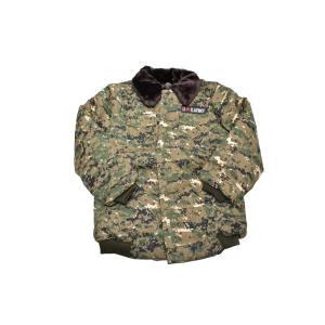 SW製 中綿 ジャンパー ジャケット ブルゾン AOR2タイプ迷彩 日本サイズ S〜Mサイズ相当 million