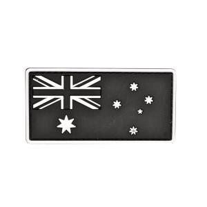 PVC製 オーストラリア国旗 ミリタリー ワッペン パッチ サバゲー ベルクロ付 白色|million