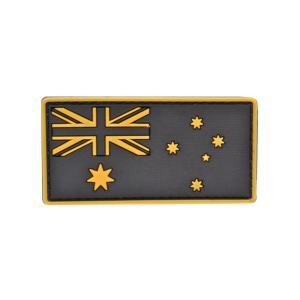 PVC製 オーストラリア国旗 ミリタリー ワッペン パッチ サバゲー ベルクロ付 黄色|million