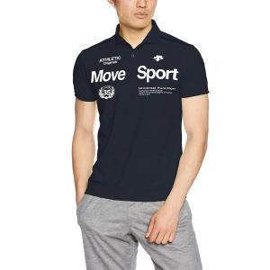 デサント トレーニング UVカット ポロシャツ MOVESPORTS DMMLJA75 BLK S