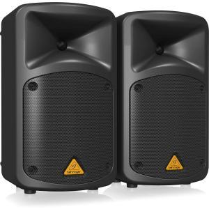 ベリンガー パワードスピーカー 8chミキサー エフェクター MP3プレイヤー 2本 EUROPOR...