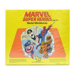 MARVEL SUPER HEROES SET ♯1 UNPAINTED METAL MINIATURES|mimiry-mary