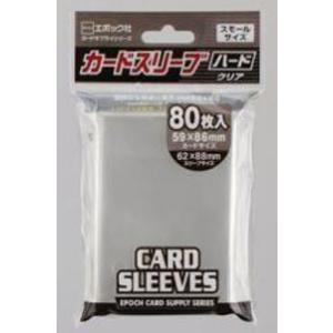 小型カードサイズにぴったりのハードスリーブ80枚入り。カードサイズ59×86mmに対応します。  ち...