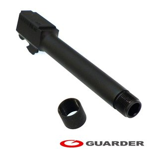 GLOCK-24 (BK) GUARDER マルイ グロック17 G17 G18 対応 M14mm逆ネジ付きスチールアウターバレル BK|mimiy