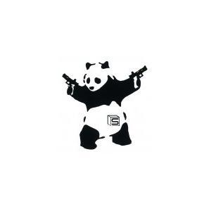 """ステッカー SAI type""""Panda""""Sticker 2丁拳銃パンダ メール便 ネコポス可"""