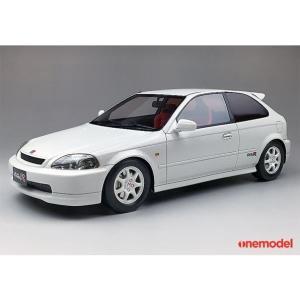 onemodel 1/18  ホンダ シビック タイプR CIVIC TypeR EK9 前期 チャンピオンシップホワイト Championship White|mimiy