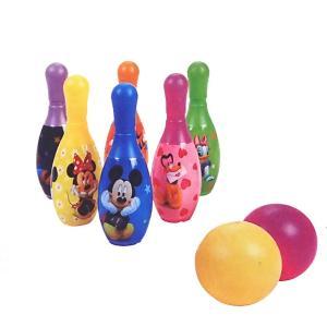 ディズニー ボーリングセット ピン6本 ボール2個つき ゲーム おもちゃ プレゼント 誕生日|mimiy
